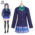 ROLECOS Brand Japanese Anime Love Live Cosplay Costumes Tojo Nozomi School Uniform Cosplay Costume(Top+Skirt+Tie)