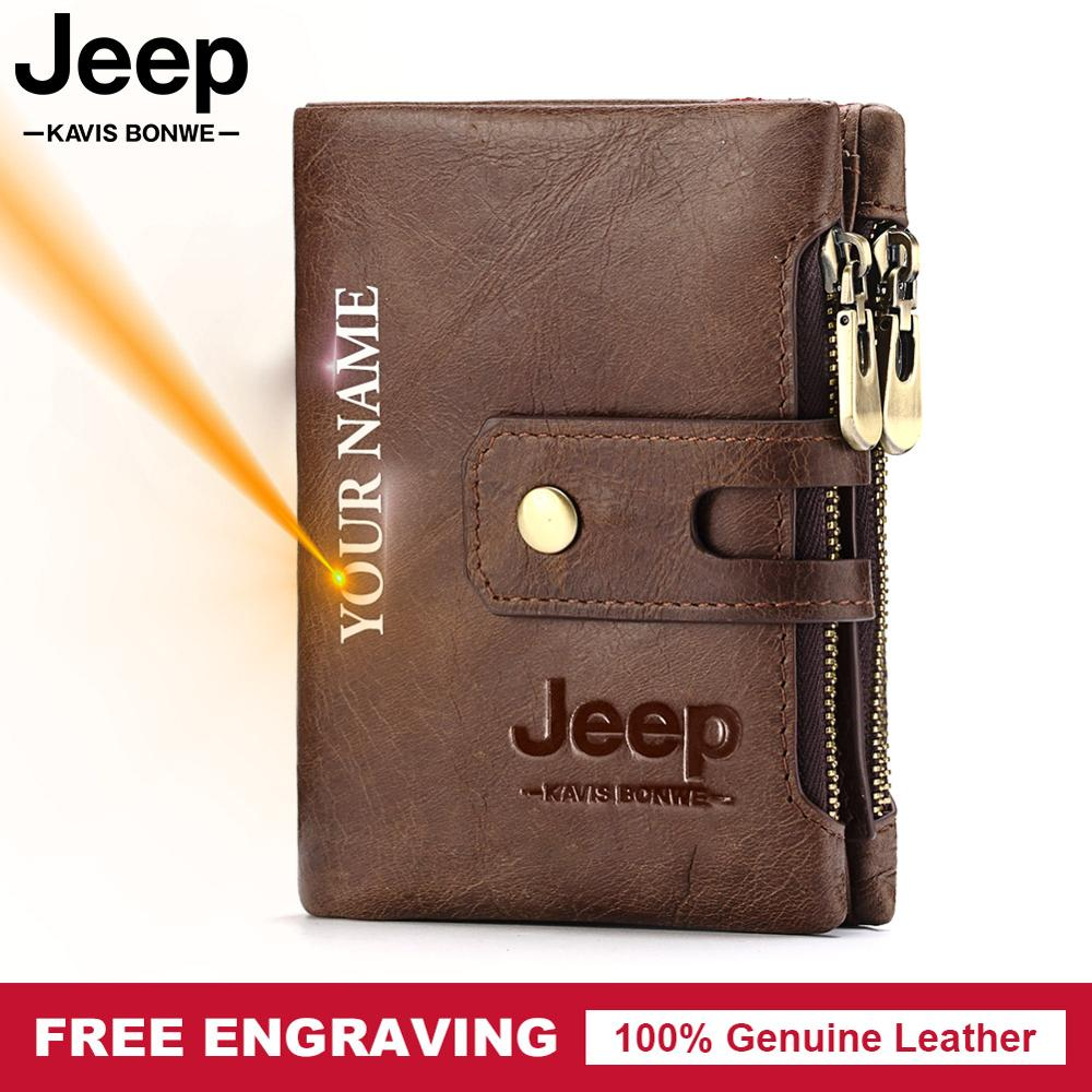 Free Engraving Genuine Leather Men Wallet Coin Purse Small Mini Card Holder High Quality Portomonee Male Name Pocket Top Sale