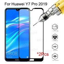 2PCS กระจกนิรภัยสำหรับ Huawei Y7 2019 GLAS สำหรับ Huawei Y7 PRIME 2019 DUB LX1 DUB LX2 DUB LX3 y72019 7Y Pro