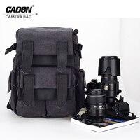 CADEN Backpacks Camera Canvas Black Bags Soft Shoulders Big Bag For Men Women Brief Digital Camera
