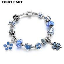 Toucheart серебряный цвет рандомный браслет для женщин с двумя