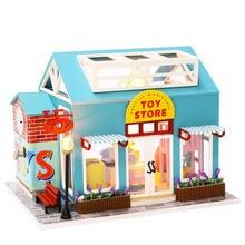 Oyuncak-casa de muñecas de madera para niños, muebles de casa de muñecas en miniatura, bricolaje, regalos