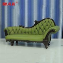 Hot Doll Figure Accessory Furniture 1 6 Ac 7 Green Long Sofa Settee Retro