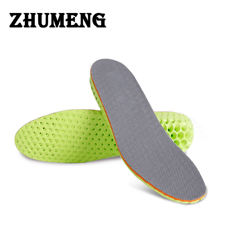 ZHUMENG Super Soft Breathable EVA Shoes Shock Absorption Insoles Running Insole Athletic Insert Air Drying Deodorant Shoe Pad shanghai kuaiqin kq 5 multifunctional shoes dryer w deodorization sterilization drying warmth