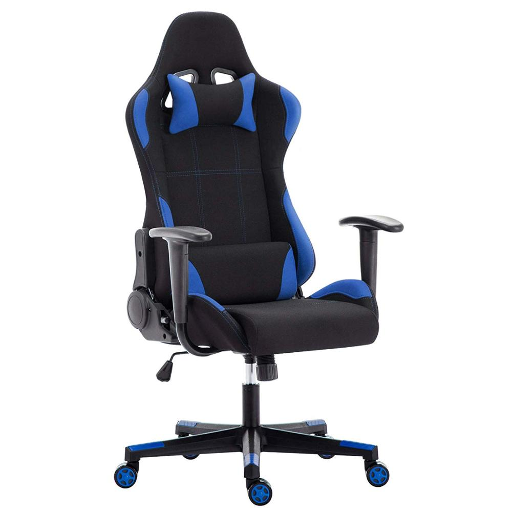 Fabric Gaming Chair Racing Office Chair Ergonomic Swivel High Back Recliner Computer Desk Chair