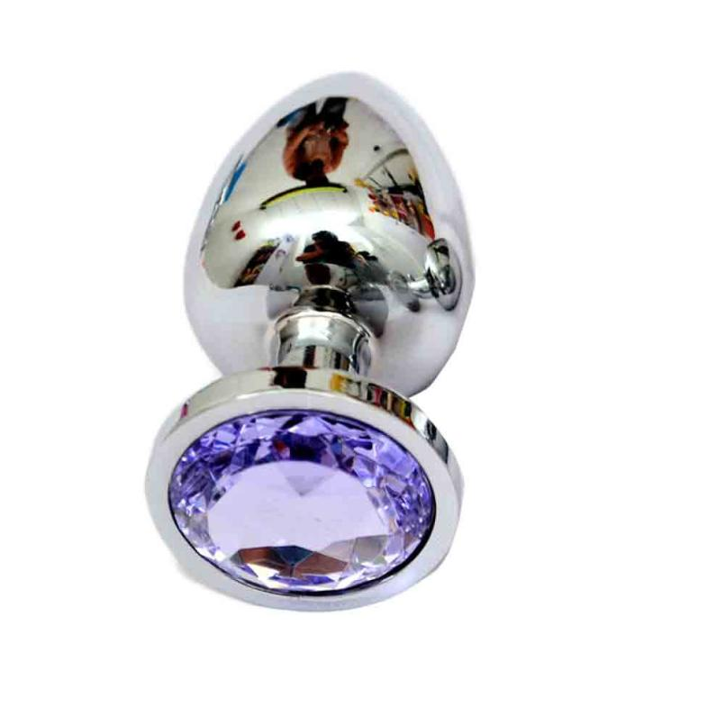 2018 Hot Berg Crystal Silver Colour Metal Backyard Stainless Steel Plug Anal Hitch L1014
