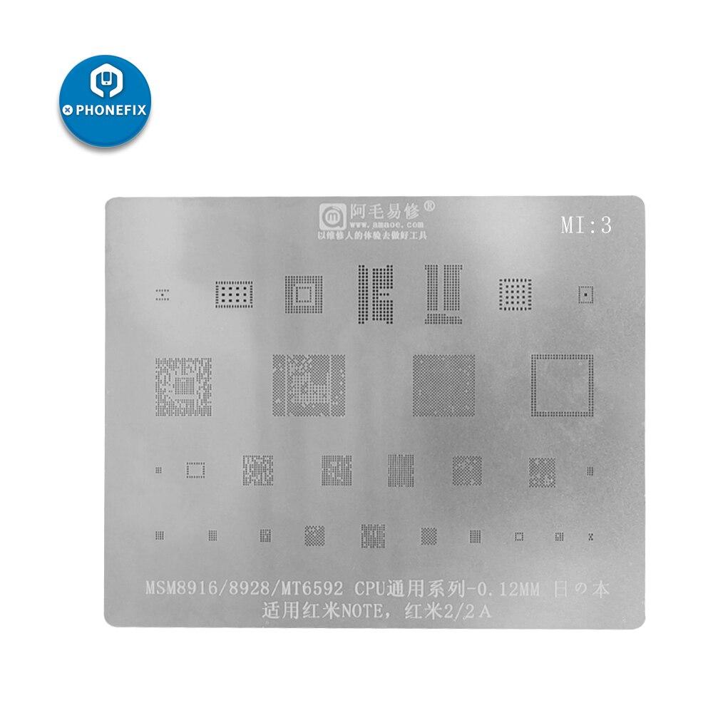 Multi-purpose Xiaomi Mobile Phone All Series Universal BGA Stencil Templates For Motherboard BGA IC Reballing Soldering Repair