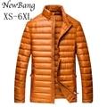 Плюс Размер 5XL 6 3xlmen Куртки Перо Человек Утка Вниз Куртки Пальто Четыре Цвета Куртка