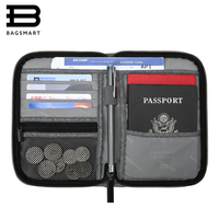 BAGSMART Mutifunction Travel Passport Bag RFID Passport ID Card Holder Bank Card Bag Clutch Holder Zipper