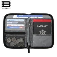 BAGSMART Mutifunction Travel Passport Bag RFID Passport ID Card Holder Bank Card Bag Clutch Holder Zipper
