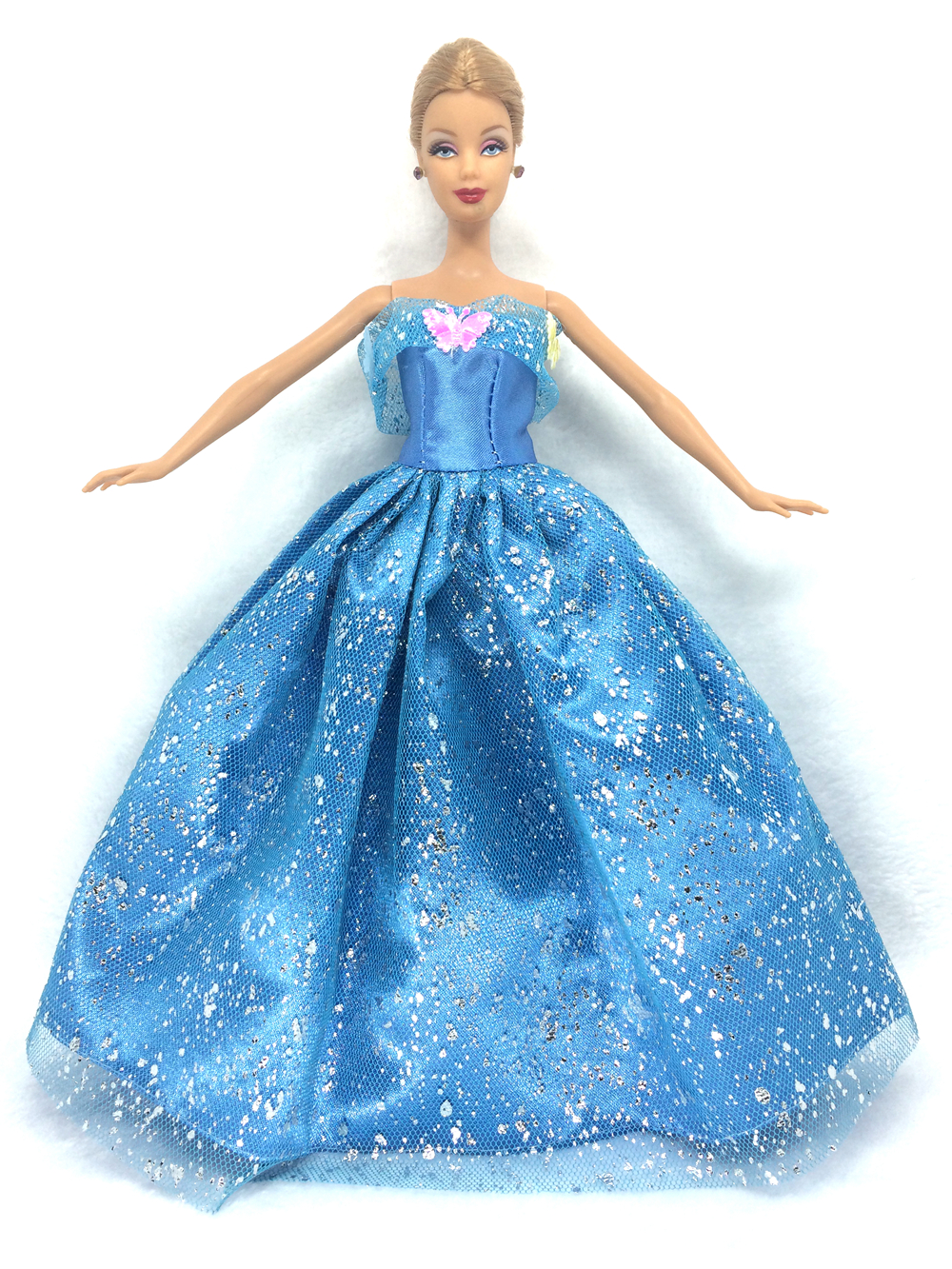NK One Set Princess Doll Gown Comparable Fairy Story Cinderella Wedding ceremony Gown Robe Social gathering Outfit For Barbie Doll Greatest Ladies' Reward 6I