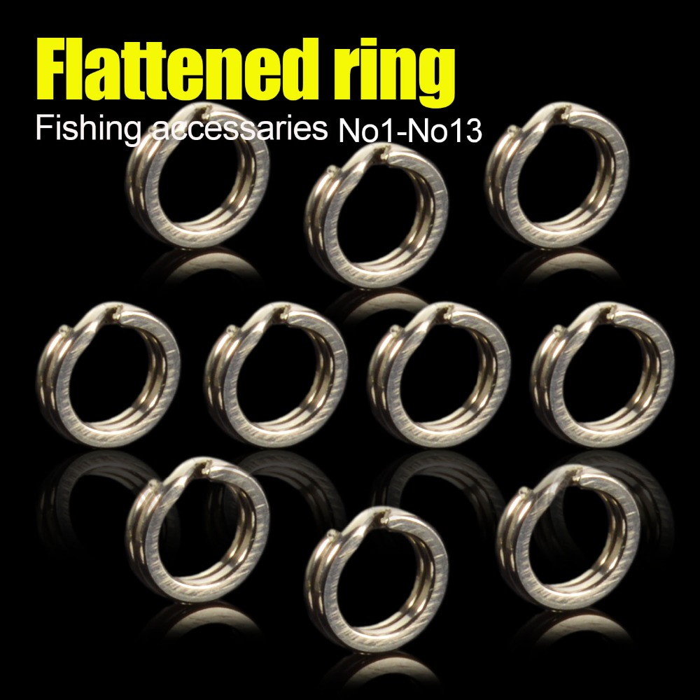 Heavy Duty Stainless Steel Fishing Split Rings For Blank Crank Bait Connectors Hard Bait Double Loop Connector Carp Pesca Fishin 100 pcs set fishing split rings for crank hard bait silver stainless steel double loop split open carp tool fishing accessories