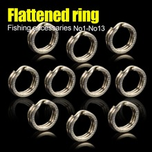 Heavy Duty Stainless Steel Fishing Split Rings For Blank Crank Bait Connectors Hard Bait Double Loop Connector Carp Pesca Fishin rompin 100pcs stainless steel split rings for blank lures crank bait hard bait carp fishing tools double loop 6mm 7mm 8mm