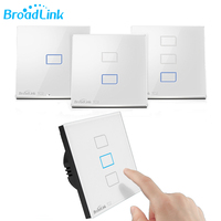 Broadlink TC2 1/2/3 Gang Wireless Remote Control Wifi Wall Light Touch Switch 433MHZ 110V 240V Smart Home EU /US Standard