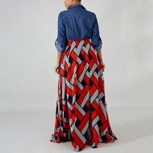 فستان ماكسي أنيق بتوب جينز مميز موديل صيفي