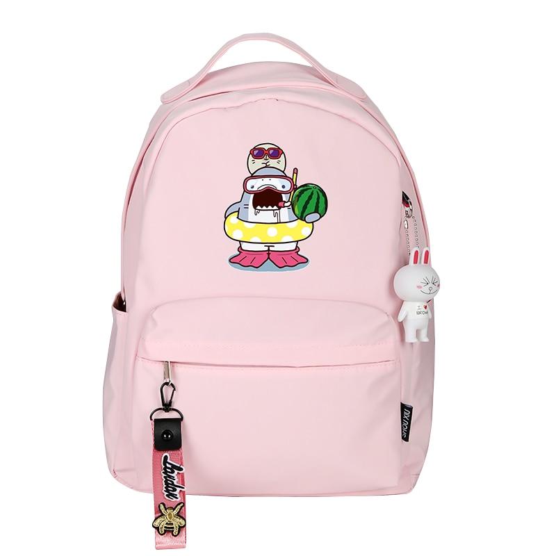 Image 4 - Women Cute Small Backpack Shark Eat Hamburg Cartoon School Bags Kawaii Dessert Travel Bagpack Pink Back Pack Cartoon BookbagBackpacks   -