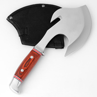 KKWOLF Very Sharp Boning Knife Kitchen Tools Stainless Steel Axe Tomahawk for Chopping meat Survival Hunting Knife Camping Tools