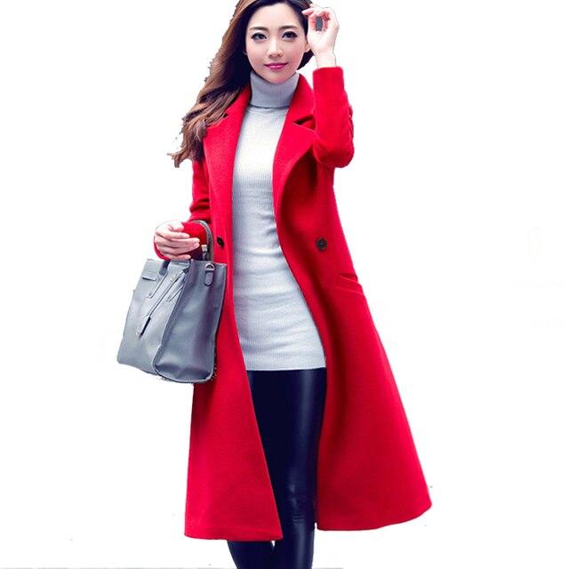 710bc673e Casaco de Caxemira das mulheres 2016 Outono Inverno Oversized Clássico Maxi  Longo Casaco Feminino Casaco de