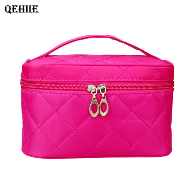 ... cosmetic bag women s large capacity Women Quilted professional cosmetic  bag women s large capacity storage makeup bag handbag travel necessary  organizer ... d2f45f9e227b5