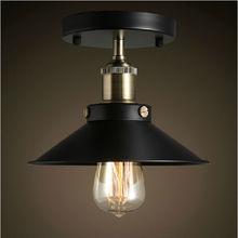 American Retro LED Edison light Pendant Lights Loft lighting vintage industrial light balcony american little black dress lamp