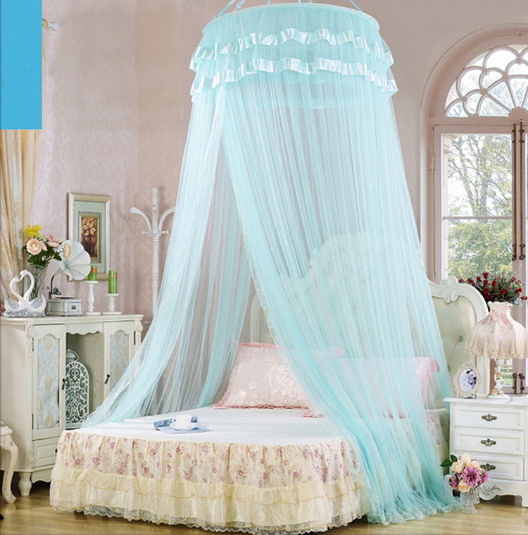 Bed Canopy Elegant Home Room Bed Canopy Princess Round Lace Girls Bed ...