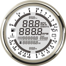 Gauge-Meter Boat Multi-Functional Lcd-Speed Digital 85mm 0-10bar 6-In-1 Truck Car New