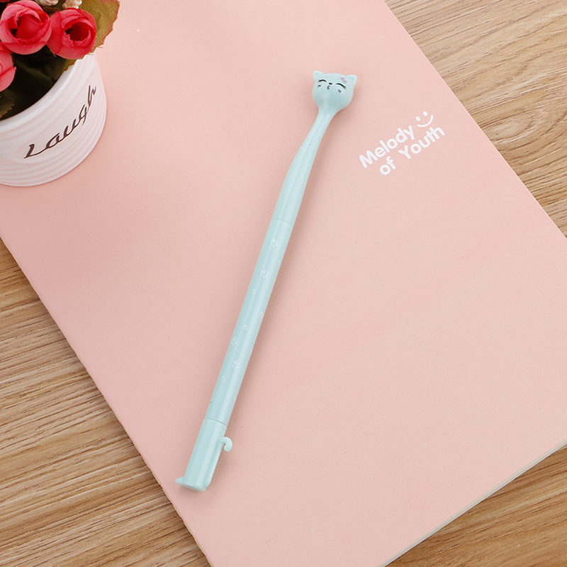 Image 4 - 100 Pcs Creative Stationery Cute High Cat Neutral Pen Learn Stationery Cartoon  Quality Signature Pen Kawaii School Supplies-in Gel Pens from Office & School Supplies