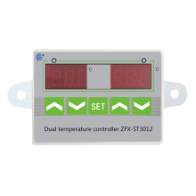 ZFX-ST3012 Double Temperature and Double Control Electronic Temperature Controller Intelligent Temperature Controller Switch цены