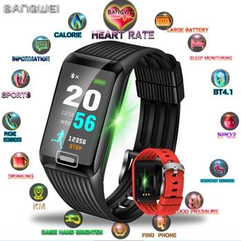 LIGE 2019 Novo Relógio Das Mulheres Dos Homens de Fitness Rastreador Inteligente Pulseira Relógio Do Esporte da Frequência Cardíaca Monitor de Pressão Arterial Inteligente para ios android