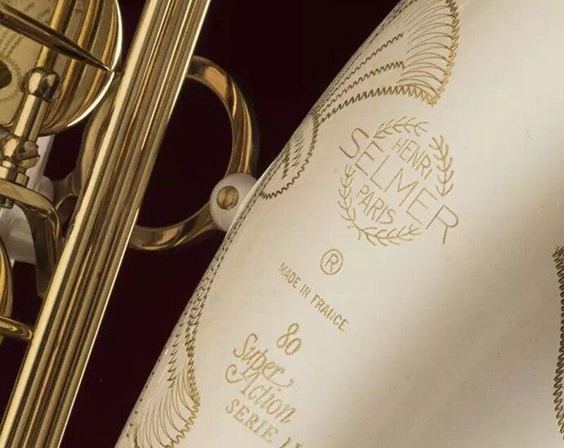 Instrument de musique SELMER 802 Ténor Bb Air Saxophone B Plat En Laiton Tube Blanc Laque Surface Saxophone Avec Embout cadeaux