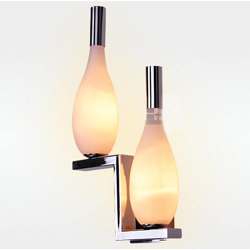 free shipping modern bedroom wall light stair two glass bottles wall lamp hallway bar counter gallery