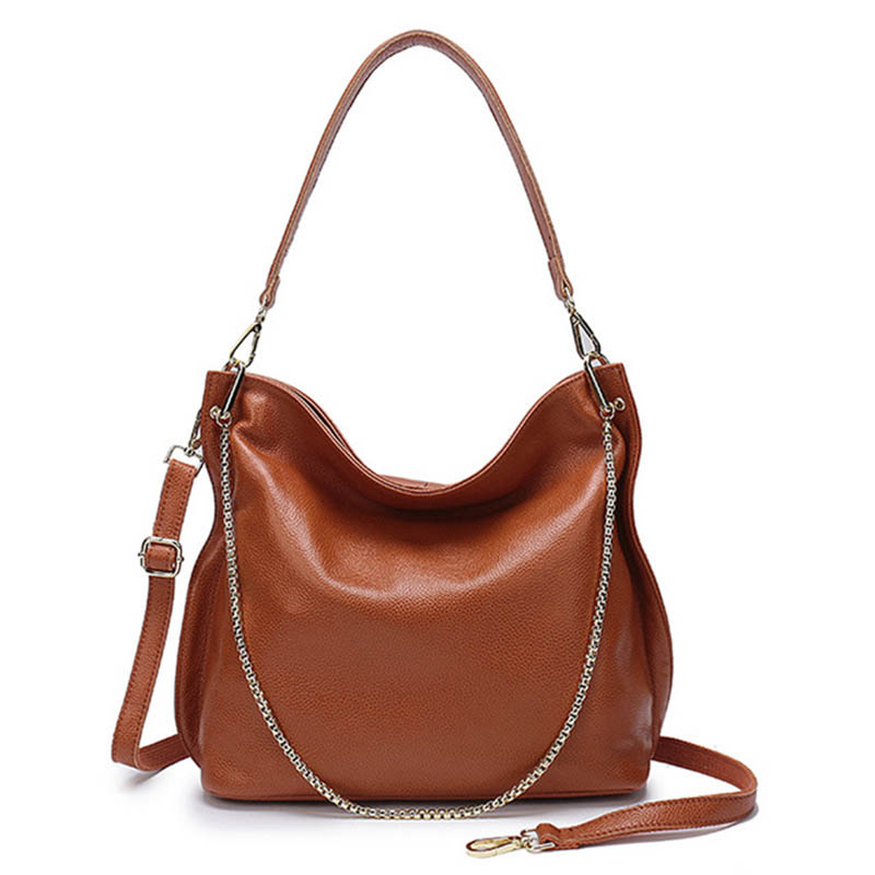 Women\'S Bag For Female Bolsa Youth Girls Genuine Leather Large Capacity Handbags Hobos Shoulder Bags Designer Luxury S Bags