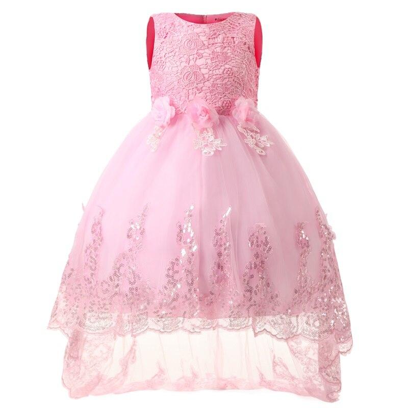 Kids Girls Party Wear Children Lace Princess Flower Girl Wedding ...