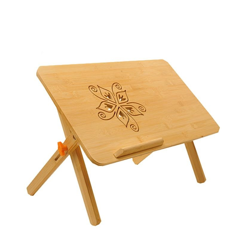 The bamboo notebook bed desk simple dormitory lazy folding lifting comter table FREE SHIPPING 250309 folding mobile small desk home bed with simple desk paint steel pipe humanized design lazy bedside laptop desk