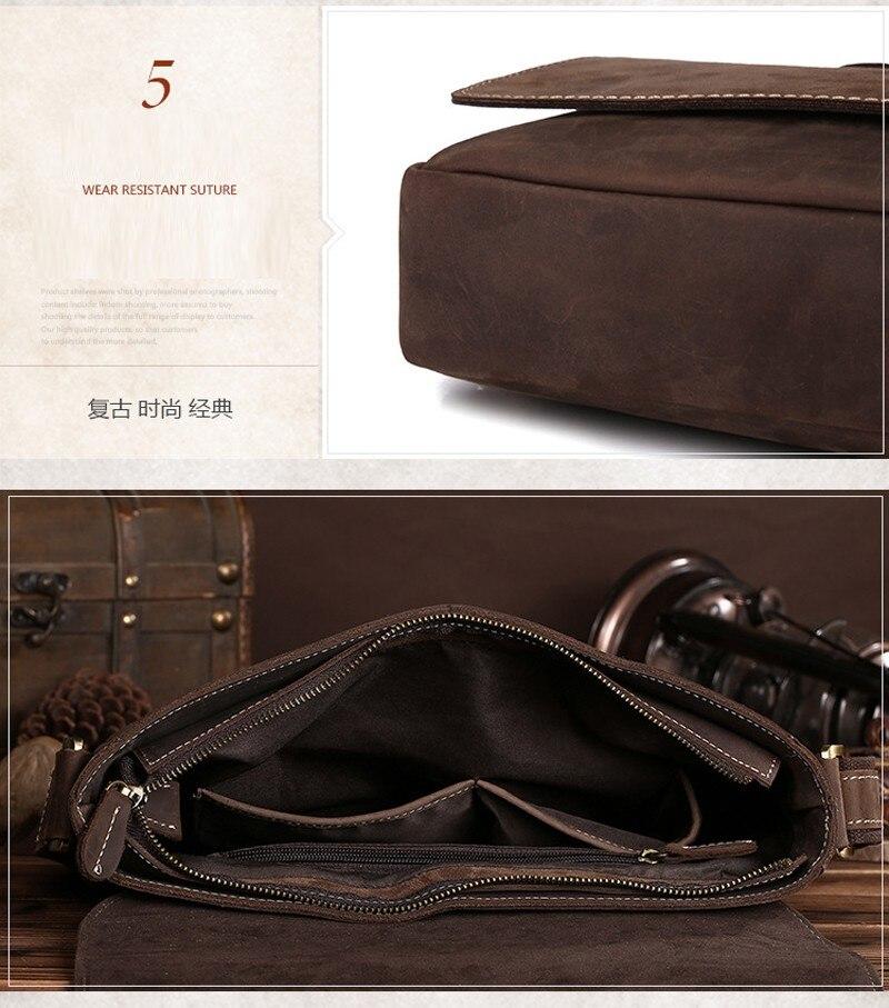 mão ocasional mensageiro sacos de couro masculino