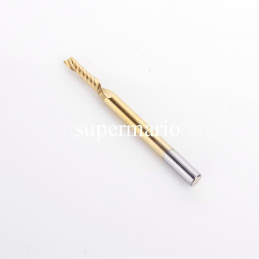1pcs 1/8''  3.175mm x 2.5mm x 8mm Titanium N2 Coated Solid Carbide One Single Flute Engraving Bits CNC Router Tool Free Shipping 3 175 12 0 5 40l one flute spiral taper cutter cnc engraving tools one flute spiral bit taper bits