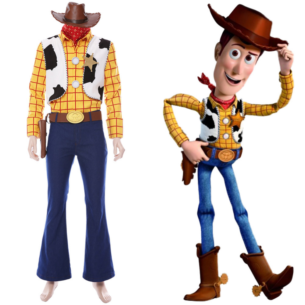 Toy Story 4 Halloween Costumes.Us 121 92 11 Off Toy Story 4 Cosplay Woody Cosplay Costume Outfit Full Set For Women Men Halloween Carnival Cosplay Costume In Movie Tv Costumes