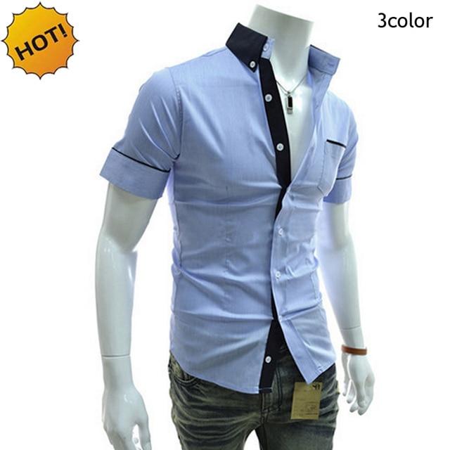 2cce7d3b5b3 Мода лето 2019 г. повседневные мужские рубашки Бизнес Slim Fit Chemise  Homme белый розовый