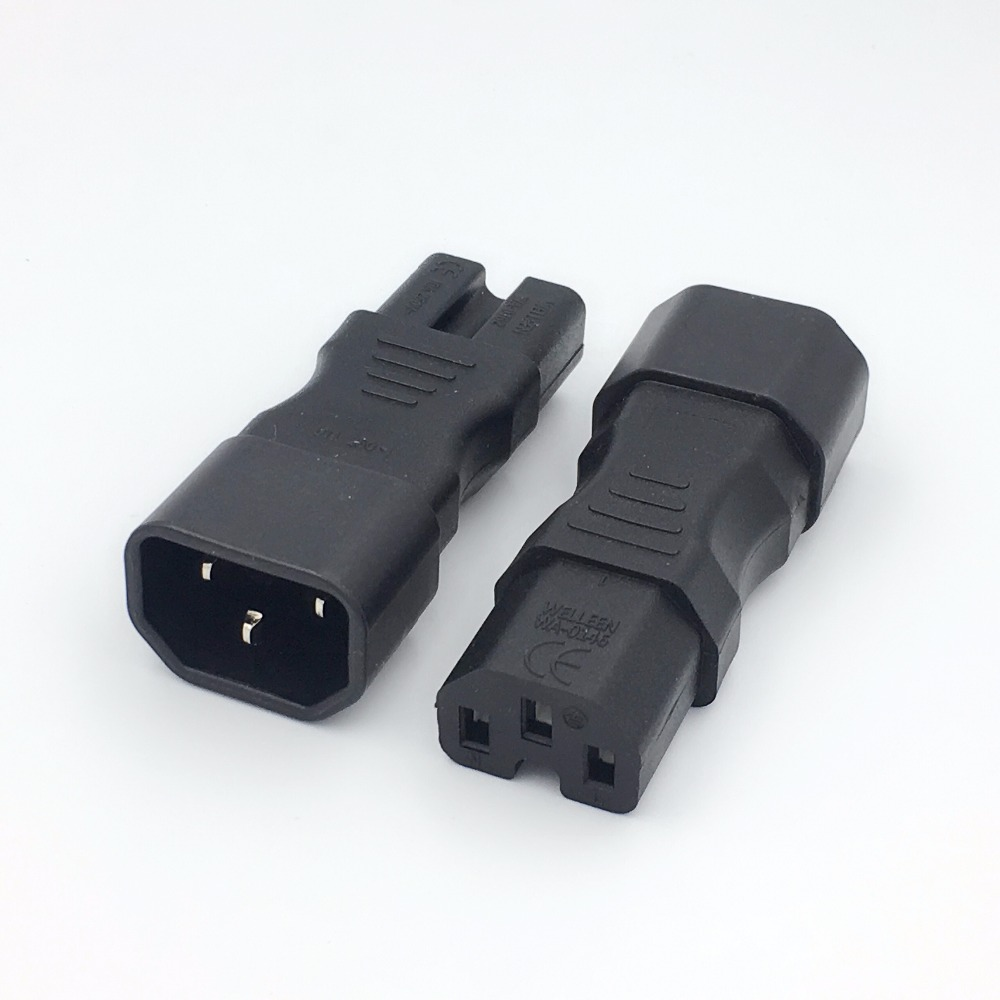 Lot of 40 Male C14 to Female C8 AC Power Adapter Connector Receptacle
