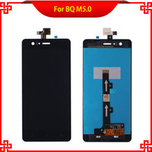 5pc/lot High Quality LCD Display Touch Screen Digitizer Assembly For BQ Aquaris M5 M5.0 5.0 Tested Mobile Phone LCDs Free Tools