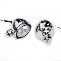 10MM Chrome Metal Motorcycle Fog Lamp Passing Driving Spot Light Auxiliary Lamps Head Light DC12V For Harley Chopper Cruiser