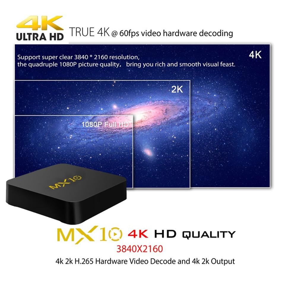 Tunisia QHDTV MX10 4G 32G IPTV Subscription Code Box Android 8.1 WiFi 4K H.265 Decoder France Arabic 1 Year Algeria Lebanon IPTV (2)