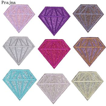 Prajna Shining Diamond Patches Gold Powder Colorful Rhinestone Embroidered Iron On Patch For Clothing Accessories T-shirt Decal image