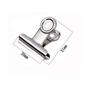Image 1 - Clipe bulldog redondo de metal, frete grátis (60, pçs/lote) 30mm clipe de bilhete de aço inoxidável