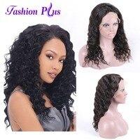 Полное кружева парики человеческих волос с ребенком волос парики для Для женщин бразильские вьющиеся волосы Full Lace парики девственные приро