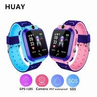 New Smart Watch Children GPS Tracker Watch Multifunction Digital Wristwatch Camera Waterproof IOS Android Kids Gift TD27 Q12