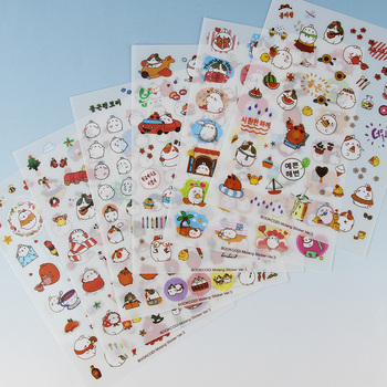 6PCS/Pack New Korea Creative Cartoon Potato Rabbit Series Kawaii Pvc Stickers In The Third Quarter Potatoes