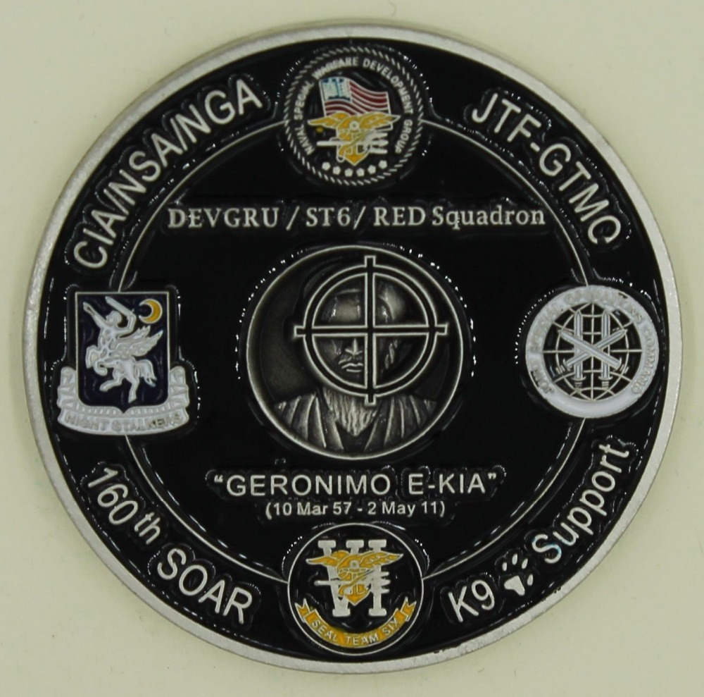 Operation NEPTUNE SPEAR 160th SOAR SEAL Team 6 Navy Commemorative Challenge Coin (1)