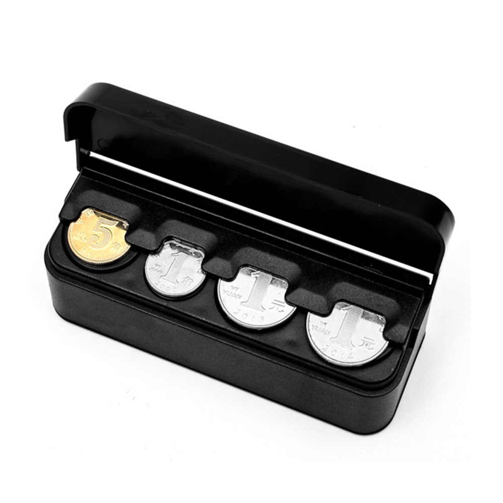 Автоматический евро органайзер для монет хранения содержит монеты кошелек держатель Авто Коробка для монет капсулы YAN88