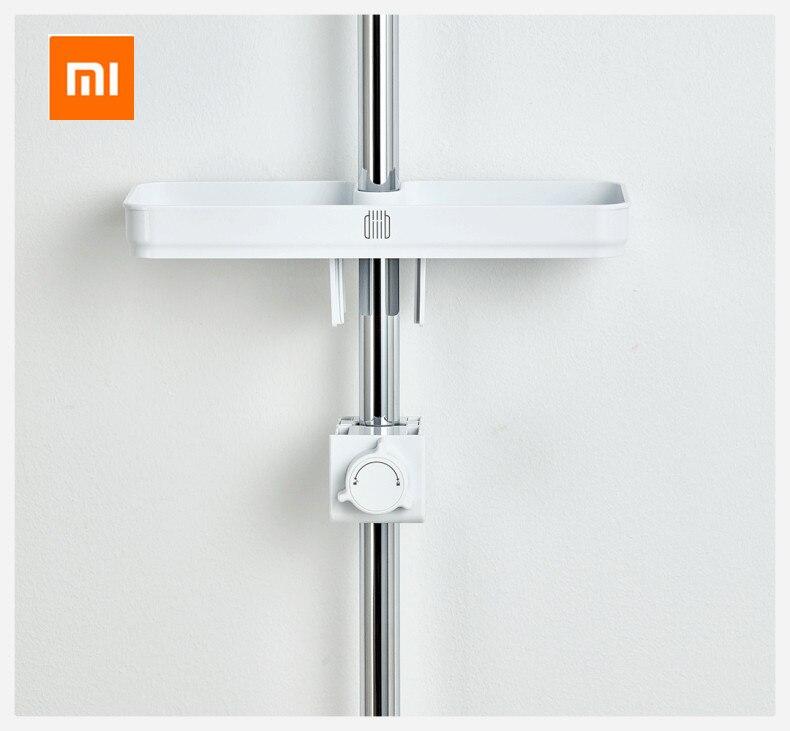 Xiaomi mijia dabai 휴대용 욕실 샤워 스토리지 랙 수건 선반 교수형 스토리지 랙 diy 조직 후크와 함께